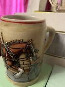 Vintage 1989 World Famous Budweiser Clydesdale Parade Dress Beer Stein