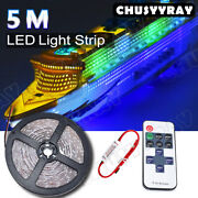 Remote Waterproof Rgb Led Strip Light 16ft For Boat / Truck / Car/ Suv / Rv