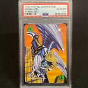Archangel Psa 10 - Marvel Overpower 1995 Strength 1 Trading Card