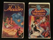 Black Diamond 1992 Alladin And 1993 Aladdin And The King Of Thieves Disney Vhs