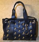 Womans 2000 Tao Tote Bag Sz.large Full Blue Nwtag Italy