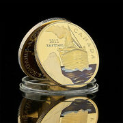 2012 Canada Rms Titanic The Voyage Titanic Ship And Travel Map Gold Plated Coin