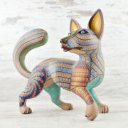 Dog Alebrije Masterpiece Oaxacan Wood Carving A2309   Magia Mexica