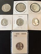 Silver Proof Quarter And Half Dollar Lot Of 7 1961-1963 And 1968 S-1970 S