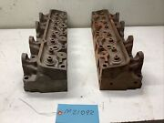 1968-1970 Ford Fe 390 Cylinder Head Set C8ae-h - Date Codes 9m12 And 0b16