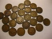 1/2 Roll 25 Coins 1909 Indian Head Cents Xf+