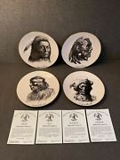 Autographed Gregory Perillo Collectible Plates - Set Of 4 - Excellent Condition