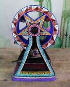 Ferris Wheel Day Of The Dead Skeletons Handmade And Hand Painted Mexican Folk Art