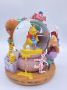 Disney Winnie The Pooh Snowglobe With Music Heffalumps And Woozles Defect Read