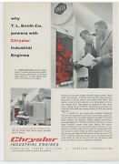 1958 Chrysler Industrial Engines Ad Tl Smith Executives - Smith Cement Mixers
