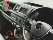 For Opel Corsa D 06+ - Black Leather Steering Wheel Cover | Grey Stitch