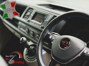 For Kia Amanti 04-09 Black Leather Steering Wheel Cover   Royal Blue Stitch