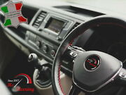 For Austin Healey Sprite Mk2 13'' 50-70 Black Leather Steering Wheel Cover   Red