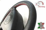 For Bond Equipe Classic 13and039and039 - Black Perf Leather Steering Wheel Cover Red Stit