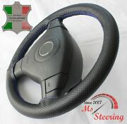 For Mitsubishi Triton -black Perf Leather Steering Wheel Cover Royal Blue Stitch