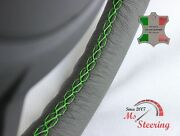 For Austin Healey Sprite Mk2 13'' 50-70 Grey Leather Steering Wheel Cover   Gree