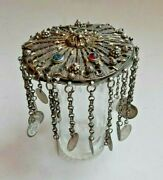 Antique. Handmade, Silver, Woman's Head Cover ТЕПЕЛЪК Ethnography. Decorations