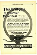1911 Fort Wayne Electric Rock Drill Ad Rotary Hammer Drill For Mining - Madison