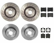 Brembo Front Rear Sport Brake Kit X-drilled Disc Rotors Low-met Pads For Mb W203