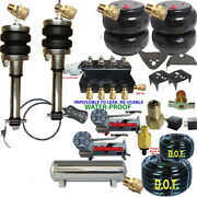 Air Suspension Kit-complete Struts Front Coils Rear Air Ride Dual Dc480 5 Gal Ss