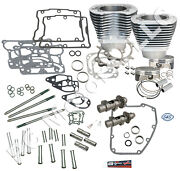 Sands Cycle 106 Big Bore Hot Set Up Twin Cam Engine Motor Kit - Silver Finish