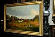 Dated 1895 Well Listed Phillip H. Rideout C.1860-c.1920 - Hunt Scene