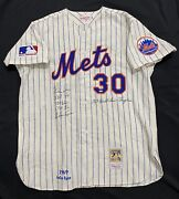 Nolan Ryan Signed Authentic New York Mets Stat Jersey Foundation Holo