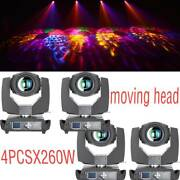 4pcs 260w Dmx512 Osram 9r Zoom Prism Beam Head Moving Stage Light Gobos Lamp Us