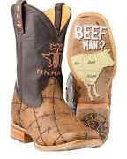 Tin Haul Barbed Wire Butcher Shop Cowboy Boot - Square Toe - 14-020-0007-0081 Br