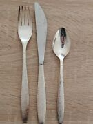 Vintage Twa Airlines Silver Plated Fork, Spoon, Knife - International Silver Co