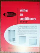 1954 Kaustine Furnace Heating Winter Air Conditioners Oil Fired Vintage Catalog