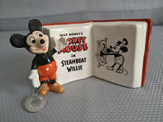 Disney Mickey Mouse In Steamboat Willie Book Plaque Goebel Archive Collection