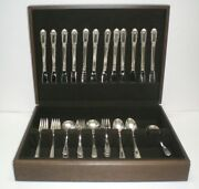Statehouse Inaugural Sterling Silver Set For 12 Soup Spoons 61 Pcs + Chest