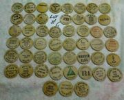 Lot 6 Of 50 Different - Wooden Nickels - Nice - All 0ver 30 Years Old