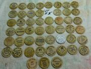 Lot 5 Of 50 Different - Wooden Nickels - Nice - All 0ver 30 Years Old
