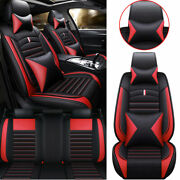 5-seat Pu Leather Car Seat Covers Auto Front Rear Chair Interior Accessories Set