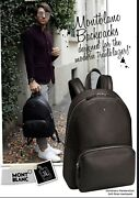 Mont Blanc Mens 935 Brown Large Backpack Newinbox Italy