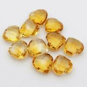 Natural Citrine Heart Shape Briolette Cut Loose Gemstone Size 7x7mm To 10x10mm