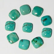 Natural Tibetan Turquoise Loose Gemstones 16mm To 20mm Cushion Cabochon