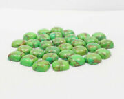 Natural Green Copper Turquoise Loose Gemstones 16mm To 20mm Cushion Cabochon