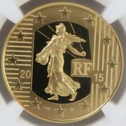 2015 French Gold Coin 100 Euros Pf70 Uc Issued 500 Pieces Rare [brand-new]