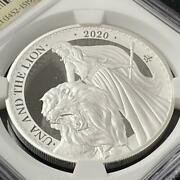 2020 1oz British Una And Lion Pf70uc Silver Coin Issued 750 Pieces [brand-new]