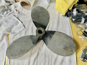 Vintage 3 Blade Brass Prop 22x14 Rh Rotation 1 1/4 See Pics With Stamping