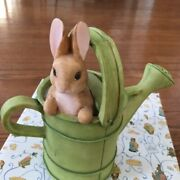 Beatrix Potter Peter Rabbit In Watering Can Coin Bank Mib  1995