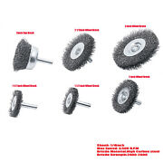 6pcs Set Wire Brush 1/4 Shank Power Drill Wheel Cup Deburr Remove Rust Crimped
