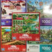 Lot Of 5 Heronim White Hometown Collection 1000 Jigsaw Puzzles Mega Master New