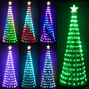 Knonew 6ft Artificial Christmas Tree With 314 Led Twinkle Lights String 18 Easy
