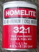 Vintage Homelite Chainsaw Oil Tin Can 1/2 Pint Advertising Full