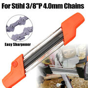 2 In 1 Easy Chainsaw File Sharpener 3/8and039and039 Picco 4.0mm Chain Grinder For Stihl