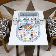 36x24 Marble White Top Center Table Multi Stone Marquetry Art Home Dandeacutecor Gifts